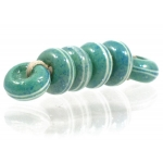 Pinstripe Speckled Spacer set, Aqua Teal