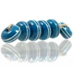 Pinstripe Speckled Spacer set, Denim blue