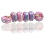 Pinstripe Speckled Spacer set, Purple Pink