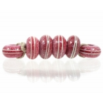 Pinstripe Speckled Spacer set, Orchid Red