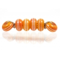 Pinstripe Speckled Spacer set, Orange Red
