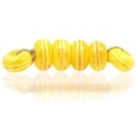 Pinstripe Speckled Spacer set, Yellow Orange