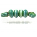 Pinstripe Speckled Spacer set, Apple Aqua