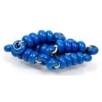 Speckled Spacer bead set, Denim Blue